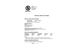 Absorbents-Industrial Mats - Needle Punch Rug Matarial Data Sheet Brochure
