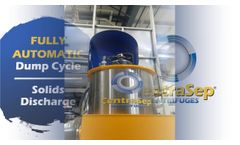 Zinc Phosphate Tank Filtration and Dump Cycle Video from CentraSep Centrifuges - Video