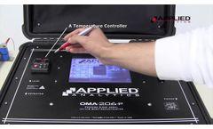 OMA-206P Portable Analyzer - Video