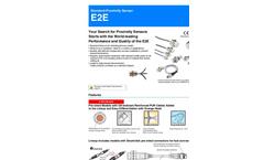 E2E World Leading Proximity Sensor for Detecting Ferrious Metals Datasheet