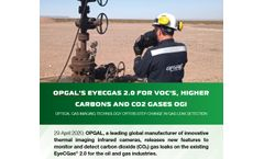 Opgal`S EyeCGas 2.0 for VOCs, Higher Carbons and CO2 Gases OGI