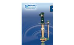 Fybroc - Model Series 5500 - Vertical Sump Pumps Brochure