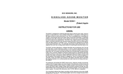 DOM-1 - Dissolved Ozone Monitor Brochure