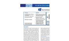Model DC80 - Dechlorination Analyzer Brochure