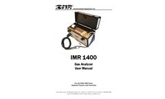 IMR 1400 Gas Analyzer - User Manual