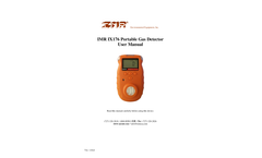 IMR IX176 Portable Gas Detector - User Manual