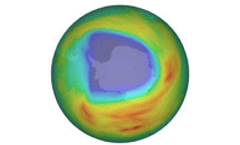 Ozone hole grows but is below 2006 record