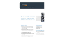 AppliTek AppliCOD - Series of On-Line COD Analyzers - Dataheet