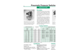 Model Non-Electric - Pneumatic Pressure Switches - Datasheet