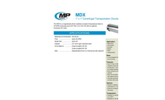 Model FMX 75 - 3/4` x 3/4` Self Priming Centrifugal Pump Brochure
