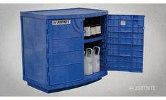 Justrite Polyethylene Cabinet for Corrosives - Video