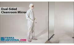 Dual-Sided Cleanroom Mirror, Terra Universal - Video
