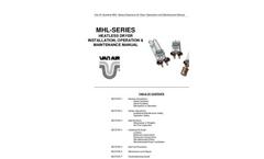 MHL-Series - Heatless Dryer Installation, Operation & Maintenance Manual