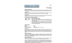 780 - PVC Regular-Bodied Plumbing Cement Brochure