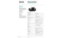 FLIR - Model 55901-2303 T620 - Thermal Imaging Cameras w/45° Lens - Technical Data