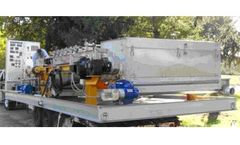 Andritz Skid Mounted 2 Meter GBT and Control Panel