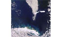 Break up of massive southern Atlantic iceberg