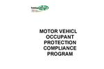 Motor Vehicle Occupant Protection Compliance Program- Brochure