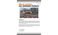 Carbonaceous Aerosol Measurement Instruments for Black Carbon Car Emission Factors Brochure
