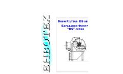 Envotech - Model DS Series - Rotary Drum Filters - Drum Screen - Brochure