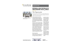 SF6 Leak Testing - Gas Insulated Switchgear - Application Note