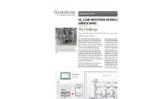 SF6 Leak Detection in Enclosed GIS Substation - Application Note