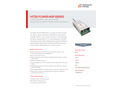 Hitek Power MSP Series Ultra-Low Ripple, Multi-Purpose Mass Spectrometry Power Supply Modules - Datasheet