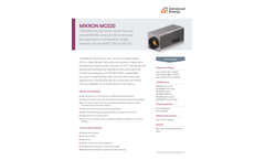 MIKRON MC320 Cost-Effective, High Performance Mid-Wave Infrared (MWIR) Camera - Data Sheet