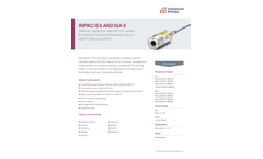 IMPAC IS 5 AND IGA 5 Stationary, Digital Pyrometers For Non-Contact Temperature Measurement - Data Sheet