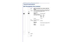 BAT Permeameter - Permeability Test Container - Brochure