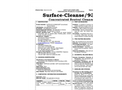 Surface-Cleanse/930 - Concentrated Neutral Cleaner - Safety Data Sheets (SDS)
