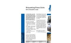 BPU 2500 And BPU 3200 - Briquetting Press Units Brochure