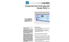 Model MGC 101 LCD Computerized Multi-Gas Calibrator Brochure