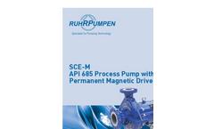 Model SCE-M - Permanent Magnetic Driven Horizontal Process Pump Brochure