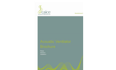 Caice - Acoustic Window Ventilators -  Brochure