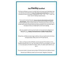 Hanby Environmental Certified Professional (H.E.C.P.)