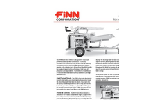 FINN - Model B-260 - Straw Blowers - Shreds And Blows 20 Tons Of Straw Per Hour - Specification Sheet