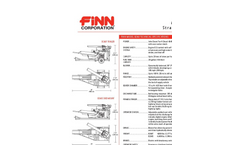 FINN - Model B-260 - Straw Blowers - Shreds And Blows 20 Tons Of Straw Per Hour - Technical Specifications