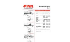 FINN - Model BB1222 - Bark & Mulch Blowers - 21.8 Cubic Yard Capacity - Technical Specifications