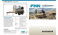 Finn HydroSeeder - Model LF120 - Landfill Machine - Brochure