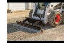 FINN GSM65 Ground Prep Attachment Skid Steer - Video