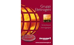 Tessari - Water/Air Cooled Genereting Set Brochure