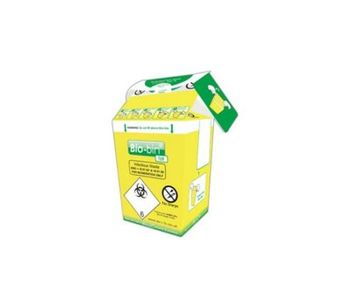 Bio-Bin - Model FSL691 - 1 Litre Yellow Cardboard Based Clinical Waste Container
