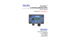 Oxygen Monitor Manual- PureAire