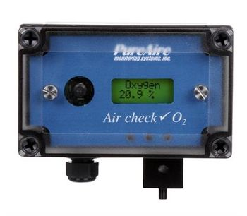 PureAire Monitoring Systems - Model 99016 - Air Check O2 Oxygen Deficiency Monitor