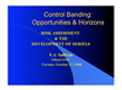 Control Banding - Opportunities and Horizons Brochure