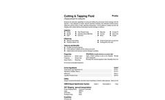 Total Solution - Model AL-8103 - Aerosol Cutting & Tapping Fluid Spra - SpecSheet