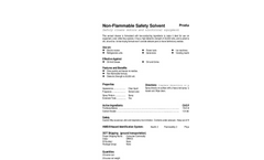 Total Solution - Model AL-8200 - Non-Flammable Safety Solvent Spray - SpecSheet