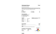 Total Solution - Model AL-8209 - Windshield Deicer Aerosol Spray - 12 Cans/Case - Spec. Sheet