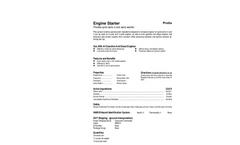 Total Solution - Model AL-8550 - Engine Starter Aerosol Spray - 12 Cans/Case - SpecSheet